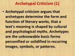 archetypal criticism 1