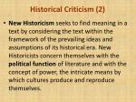 historical criticism 2