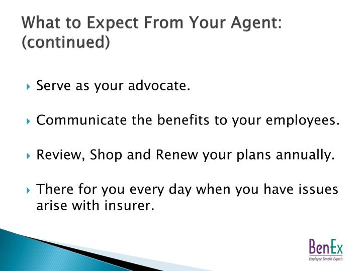 What to Expect From Your Agent: