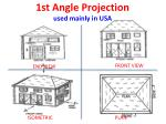 1st angle projection used mainly in usa