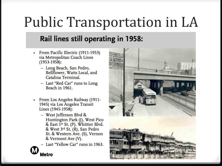 Public Transportation in LA