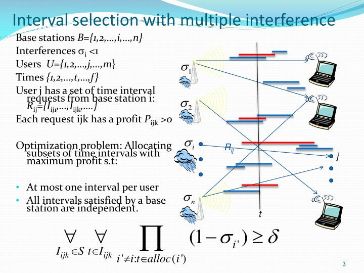 Interval selection with multiple interference