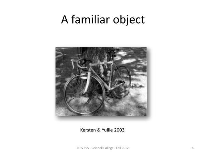 A familiar object