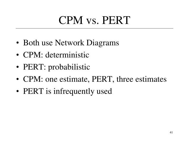 CPM vs. PERT