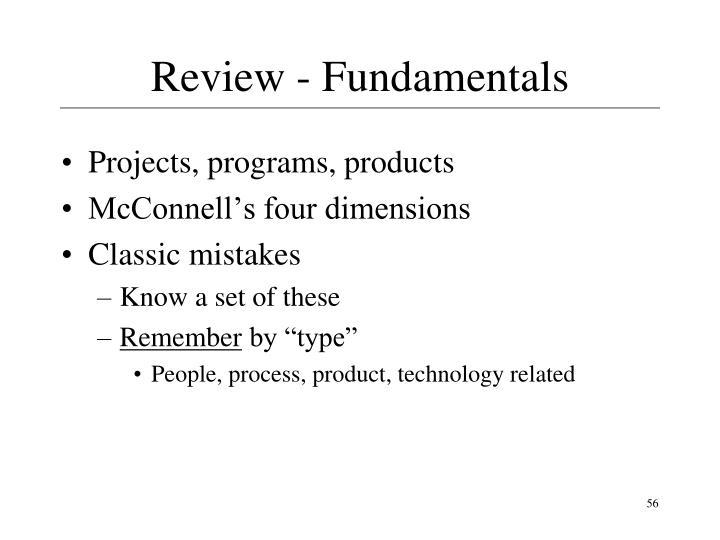 Review - Fundamentals