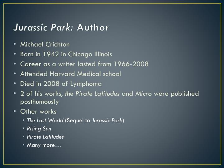 Jurassic park author
