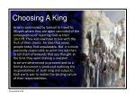 choosing a king