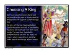choosing a king4
