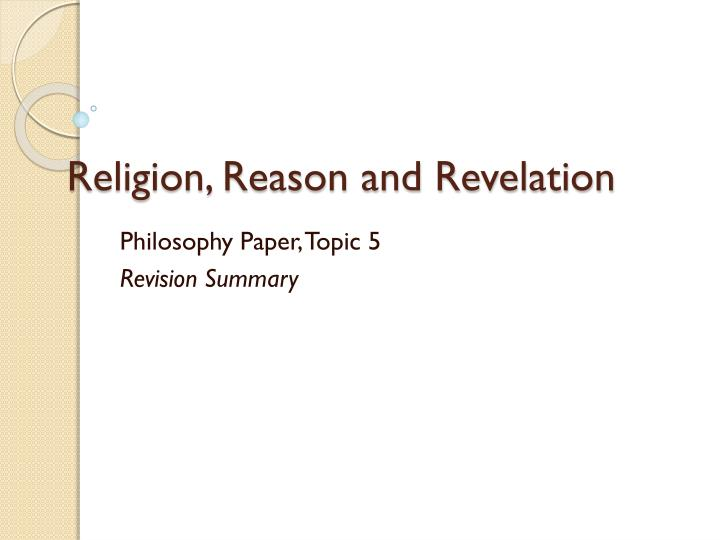 religion reason and revelation n.
