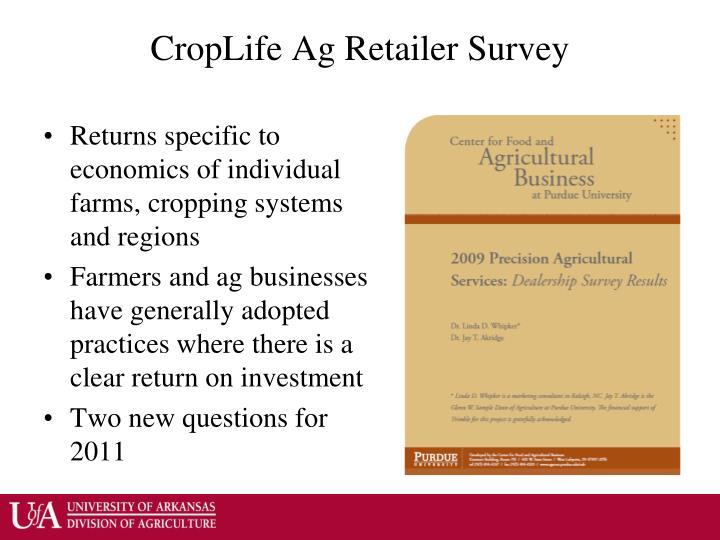 Croplife ag retailer survey