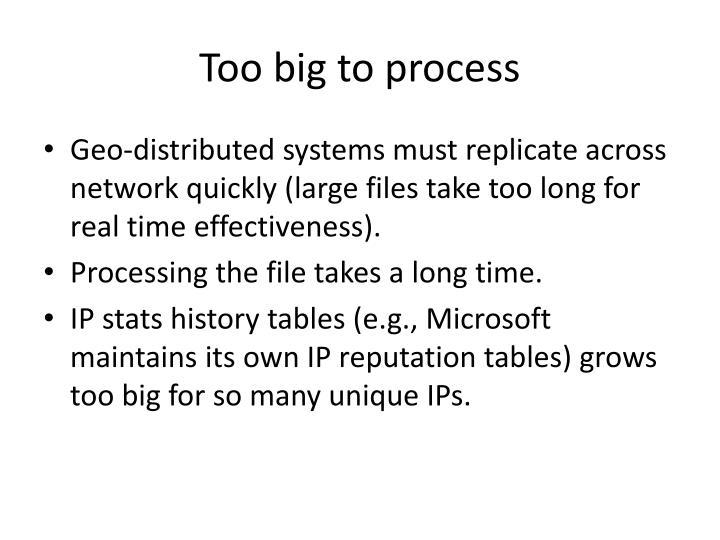 Too big to process