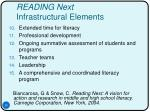reading next infrastructural elements