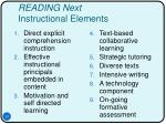 reading next instructional elements