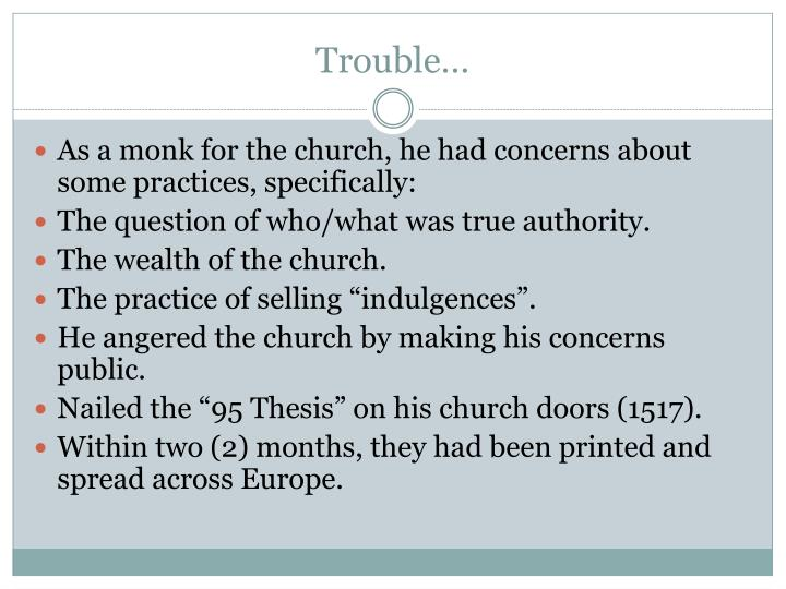Trouble…