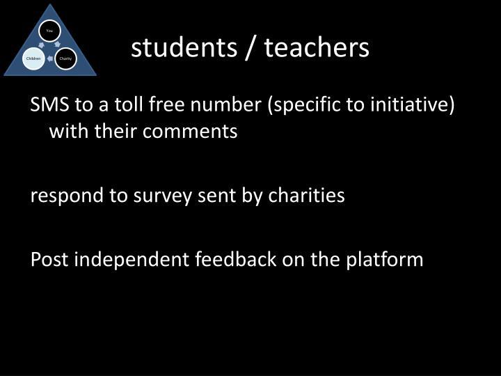 students / teachers