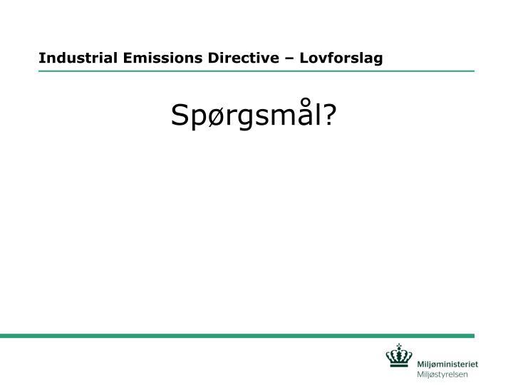 Industrial Emissions Directive – Lovforslag