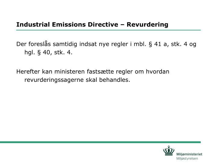 Industrial Emissions Directive – Revurdering