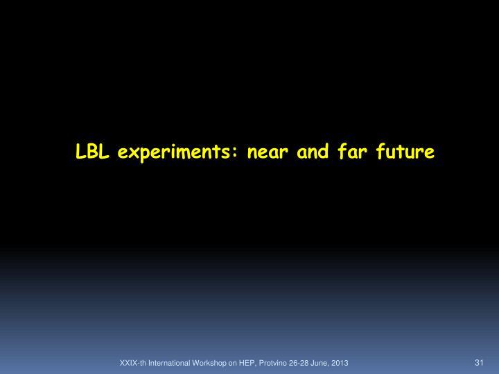 LBL experiments: near and far future