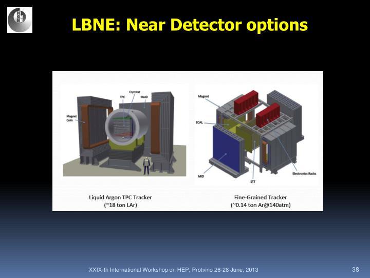 LBNE: Near Detector options