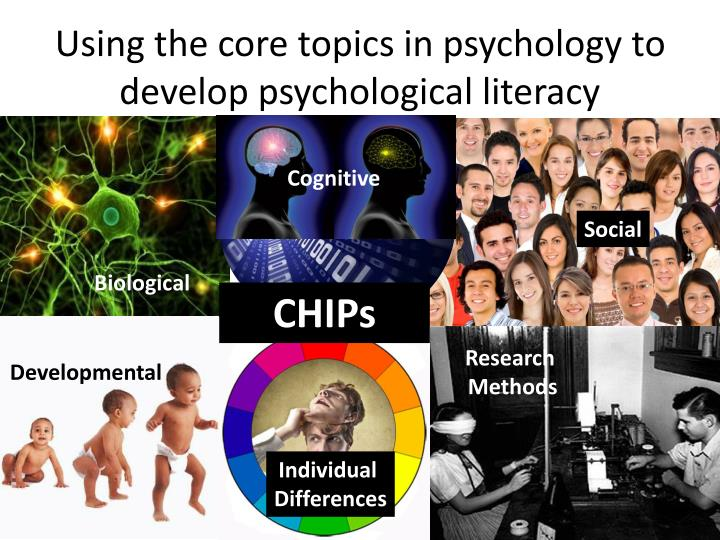 Using the core topics in psychology to develop psychological literacy