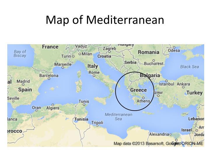 Map of mediterranean