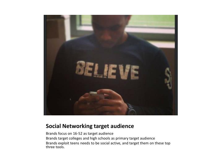 Social Networking target audience