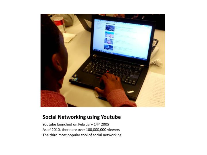 Social networking using youtube