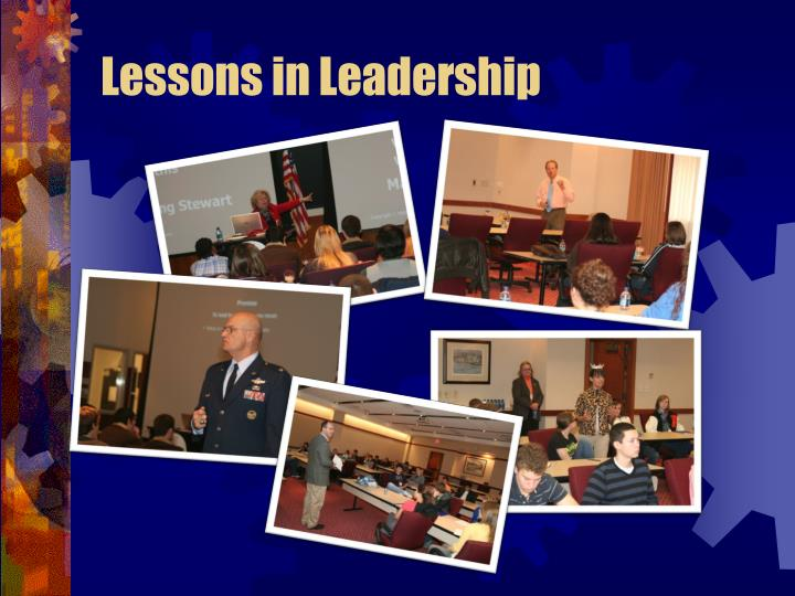 Lessons in leadership1