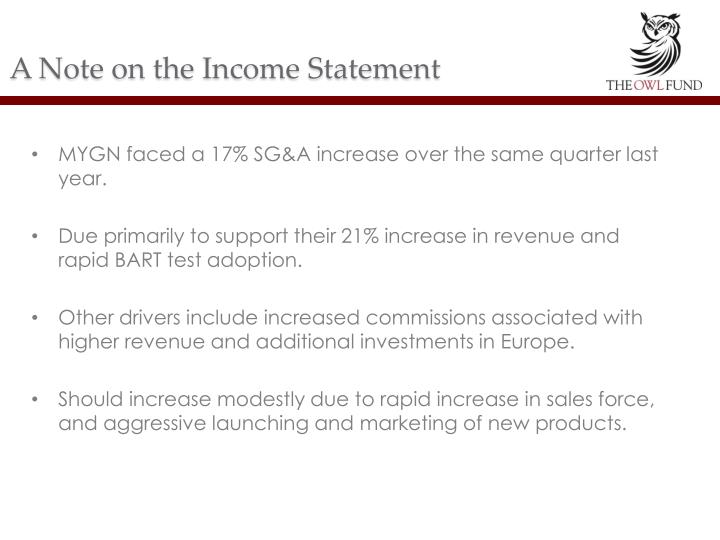 A Note on the Income Statement