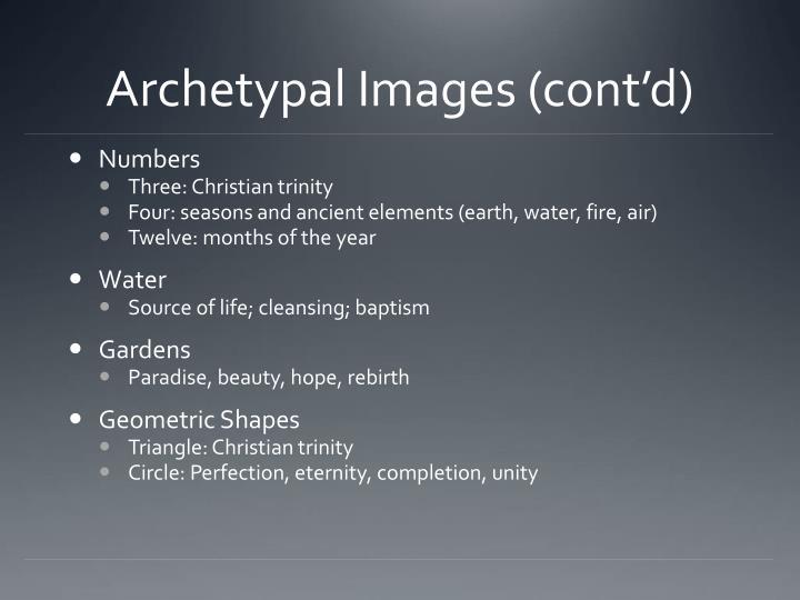Archetypal Images (cont'd)