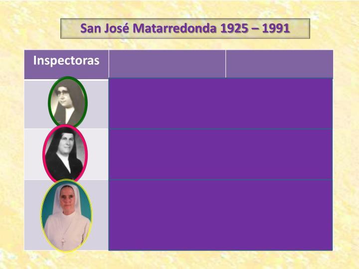 San José Matarredonda 1925 – 1991