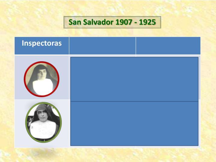 San Salvador 1907 - 1925