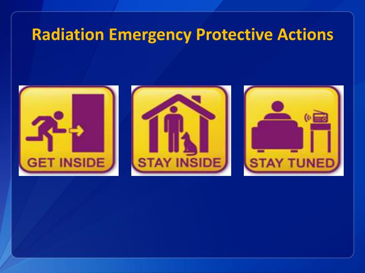 Radiation Emergency Protective Actions