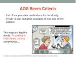 ags beers criteria