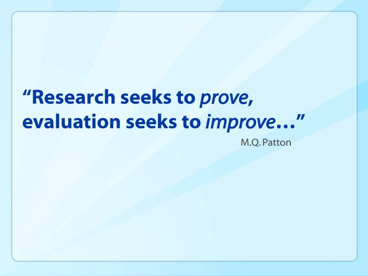 """""""Research seeks to"""