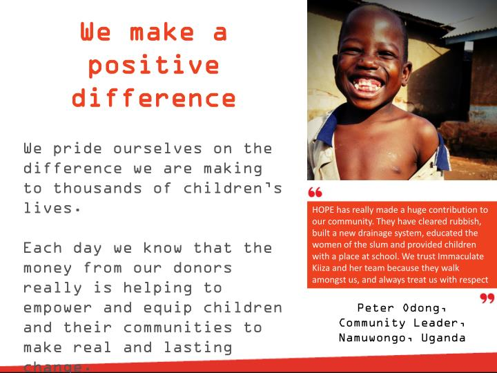 We make a positive difference