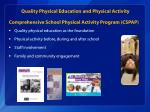 quality p hysical e ducation and physical activity