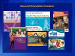 research translation products