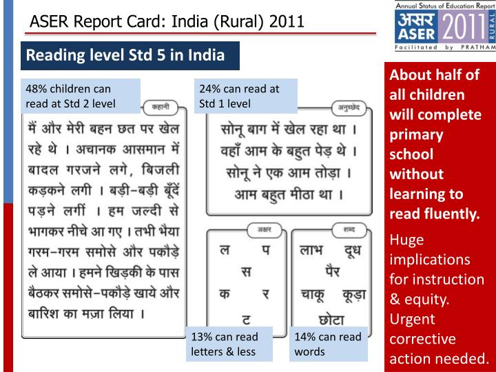 ASER Report Card: India (Rural) 2011