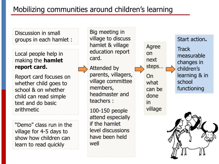 Mobilizing communities around children's learning