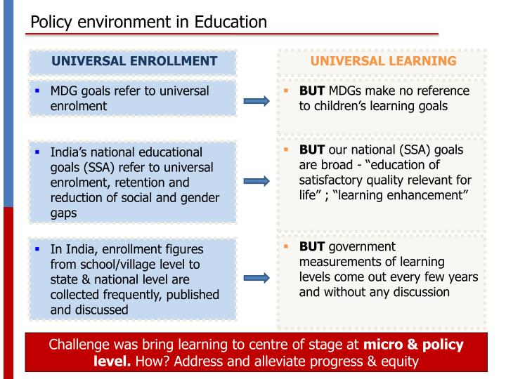 Policy environment in Education