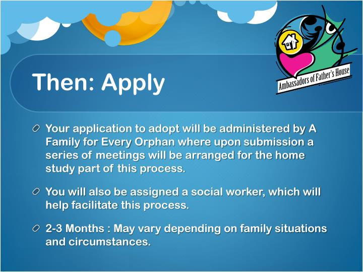 Then: Apply