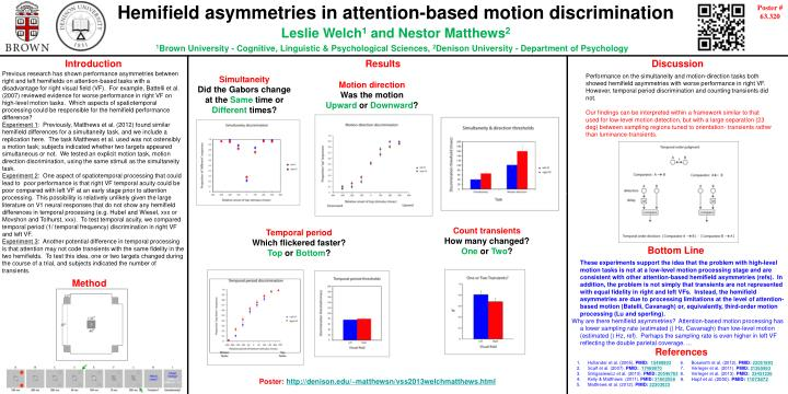 Hemifield asymmetries in attention-based motion discrimination