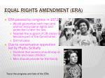 equal rights amendment era