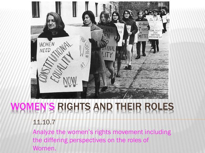 womens roles and rights in the