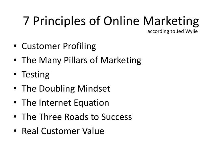 7 principles of online marketing1