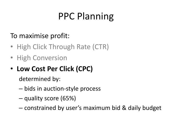 PPC Planning