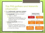 the pns gathers and transmits information1