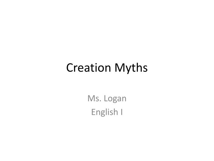 creation myths n.