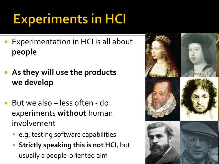 Experiments in hci1